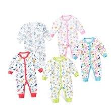 Купить с кэшбэком 2019 New Children pajamas baby rompers newborn baby clothes long sleeve underwear cotton costume boys girls autumn rompers