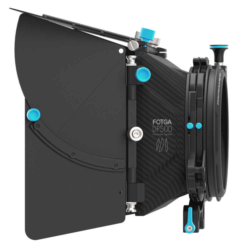FOTGA DP500III Pro DSLR matte box sunshade with donuts filter holders for A7 II A7RII A7S II BMPCC 5DIII 15mm rod rig fotga dp500iii uninterrupted v mount bp battery power supply plate for sony a7s a7r a7 ii