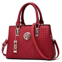 Luxury handbags Women Designer Zipper Embroidery Messenger Bags Women PU Leather Handbags Women High Capacity Handbag 2019