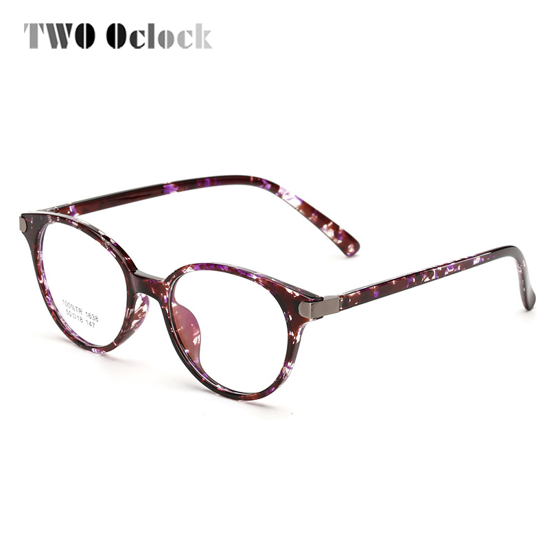 TWO Oclock TR90 Round Glasses Clear Bendable Eyeglass Frames Women ...