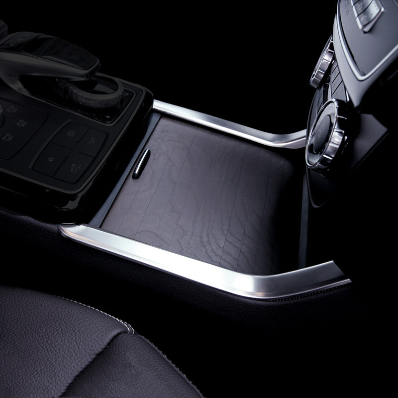 Car Styling Stainless Steel Center Console Water Cup Holder Trim Strips For <font><b>Mercedes</b></font> <font><b>Benz</b></font> GLE W166 ML <font><b>GL</b></font> GLS <font><b>X166</b></font> <font><b>Accessories</b></font> image