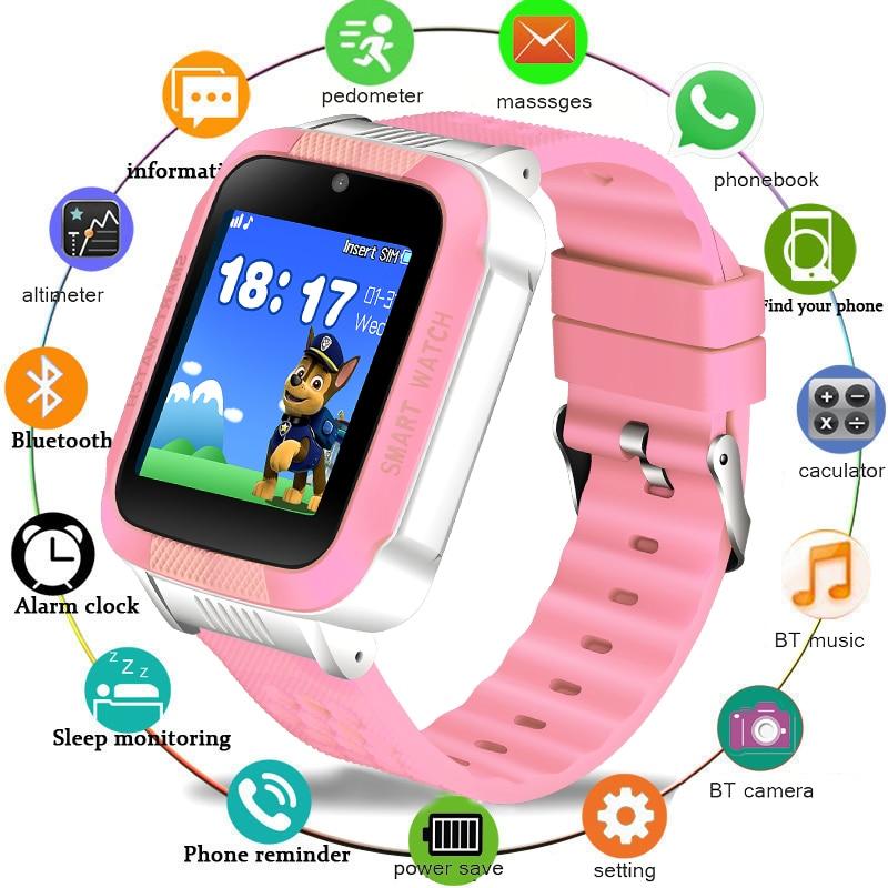 BANGWEI Bambini Impermeabile Intelligente Orologio LED di Colore Dello Schermo del Giocatore di Musica di Bluetooth Supporto di Connessione 2G SIM Card Chiamata Digitalwatch