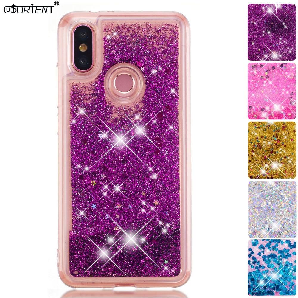 Phone Bags & Cases Impartial Bling Glitter Case For Xiaomi Mi A2 Dynamic Liquid Quicksand Silicone Fitted Cover Xaomi Xiomi Mi A2 6x Mia2 Phone Cases Funda