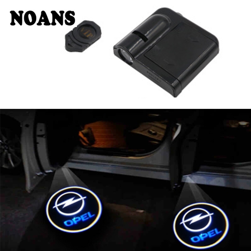2pc For Opel Astra J H G K Insignia Corsa D Vectra C Mokka Zafira B Lada Vesta Granta Priora Kalina Car Logo Door Welcome Lights