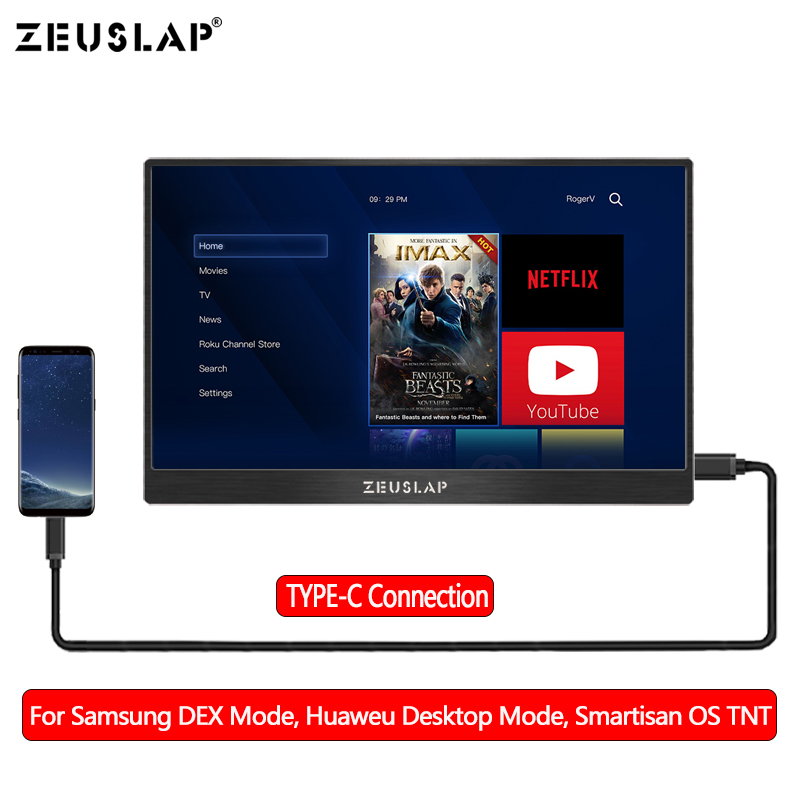 Portable 15 6 Inch 1920 1080 60Hz Full View LCD Screen Monitor Ultra Slim Display NTSC 72 for TV Computer Phone in LCD Monitors from Computer Office