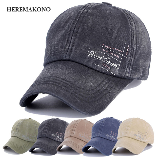 HEREMAKONO BRAND Letter Men Baseball Cap Large Brim Cool Male Sun Hat  Sports Breathable Caps Soft comfortable Hats Adjustable 90de2a72850
