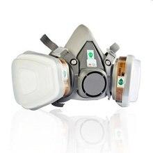 6200 N95 двойной противогаз фильтр защиты от химических респиратор маски