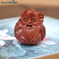 Wholesale Black Sandalwood Peach Wood Carved Engraved DIY Hand-woven Longevity Pendant Wood Accessories Pendant Jewelry
