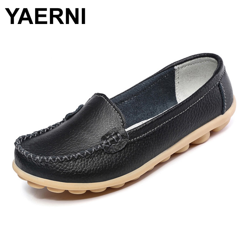 YAERNI 2017 New Artificial Leather Women Shoes Causal Soft Womans Flats Female Moccasins Sapatilhas Femininos XWD329