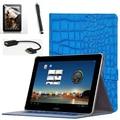 2015 venta caliente para huawei mediapad 10 ''pulgadas tablet soporte del tirón case cubierta de cuero para huawei mediapad 10 fhd envío gratis