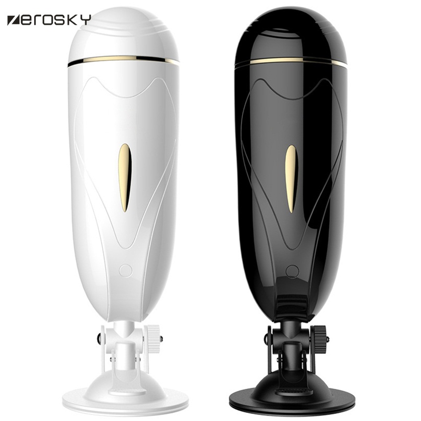 Zerosky Male Masturbator Automatic Vibrating Masturbation Cup Sex Machine USB Rechargeable Sex Toys for Men auto handfree retractable piston pricky male masturbation cup for men penis massage aircraft cup passion cup adult sex products