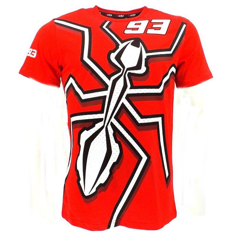 2018 New <font><b>Men's</b></font> Summer MotoGP 93 <font><b>Men's</b></font> T-Shirt <font><b>Motorcycle</b></font> Road Races <font><b>Short</b></font> <font><b>Sleeve</b></font> T Shirt <font><b>Rossi</b></font> VR46 t-shirts Spider Racing tee