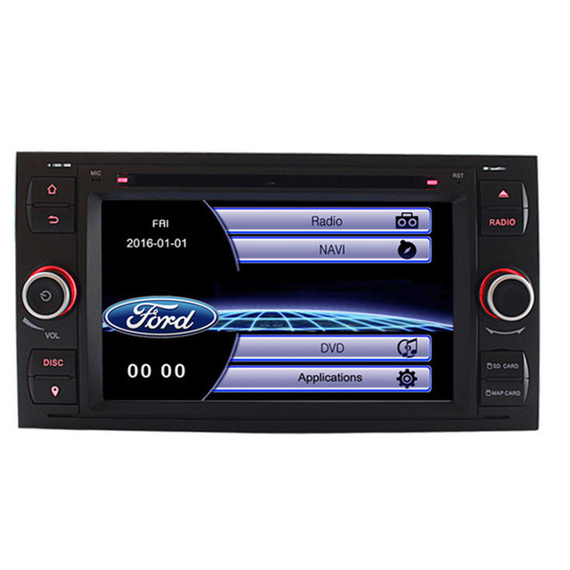 Auto DVD Player GPS Navigation Für <font><b>Ford</b></font> <font><b>Focus</b></font> C-MAX Fiesta Fusion Galaxy Kuga <font><b>2003</b></font> 2004 2005 2006 2007 2008 <font><b>Radio</b></font> bluetooth RDS image