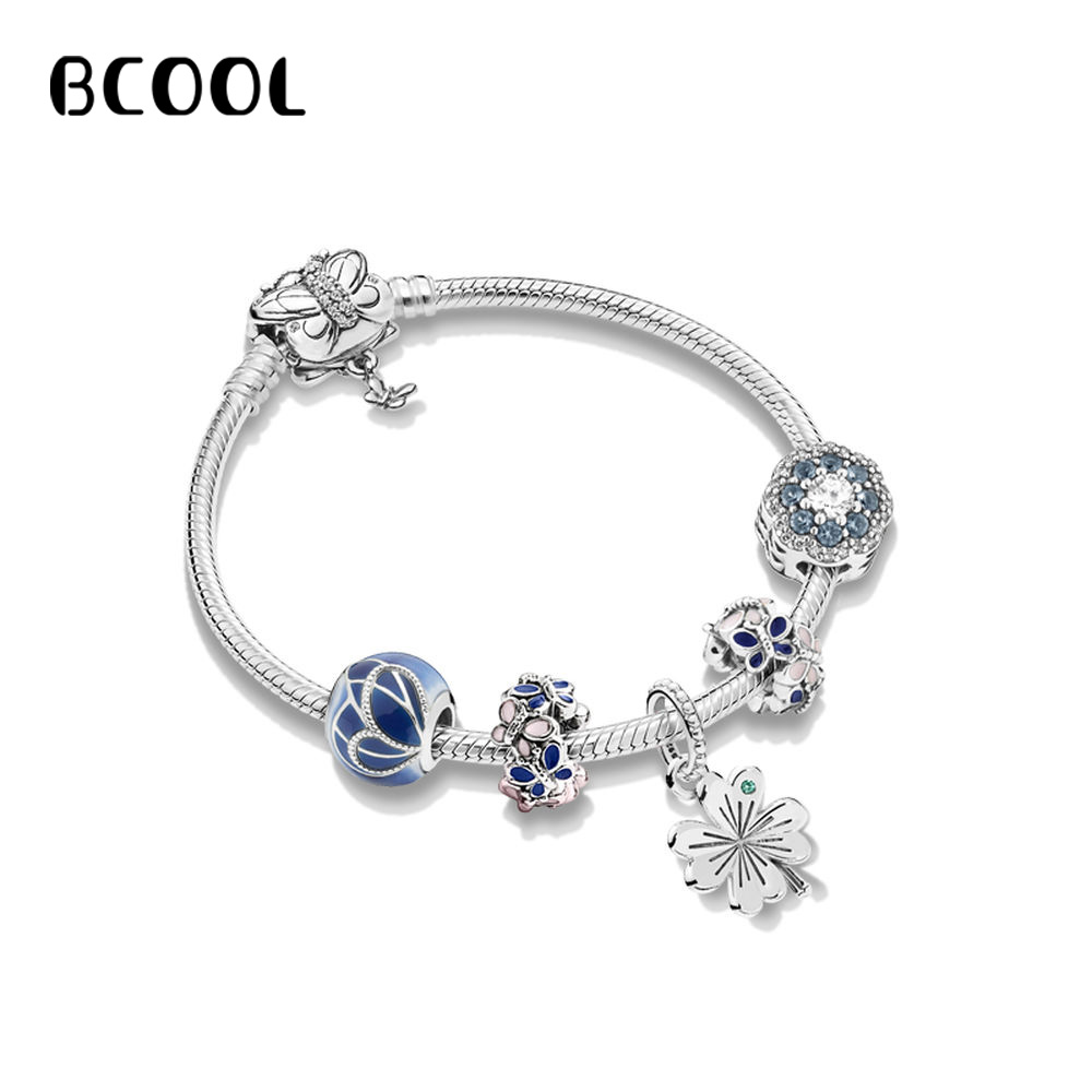 DIY Jewelry Female Charm Fashion Silver 925 Original Bracelet, Dream Garden Crystal Jewelry Bracelet Jewelry Gift