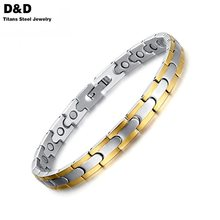 Health men's bracelets & bangles magnetic H power stainless steel charm bracelet jewelry for man SBRM-044