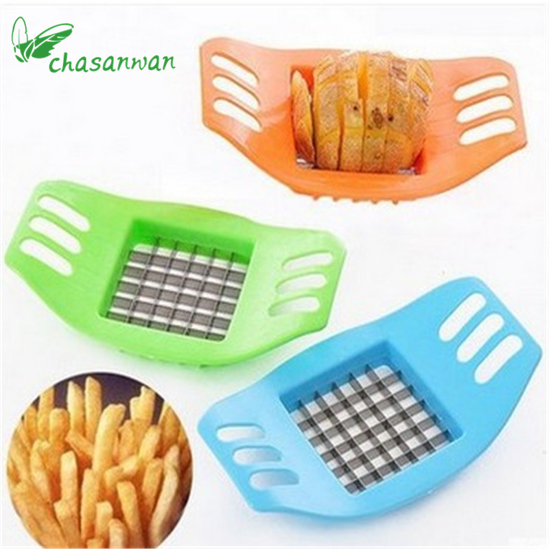 Hot Sale Vegetable Potato Slicer Cutter Chopper Stainless Steel French Fry Cutter Great Kitchen Tools Potato Cutter for Kitchen.
