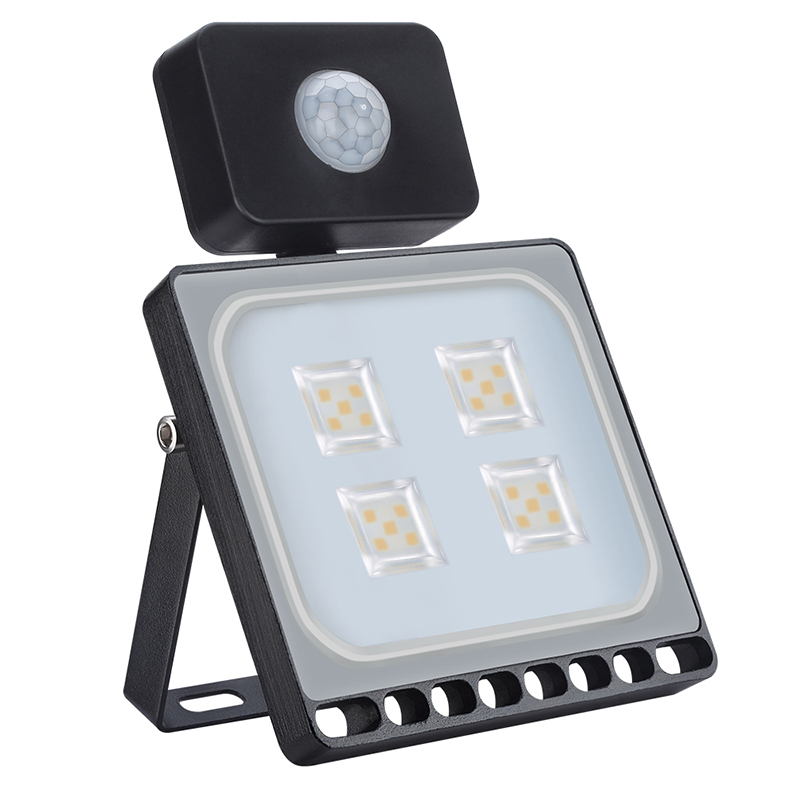 10pcs/lot 20W PIR LED Flood light Outdoor Projector With Motion Sensor Waterproof LED Spotlight Flood Light For Garden Lighting