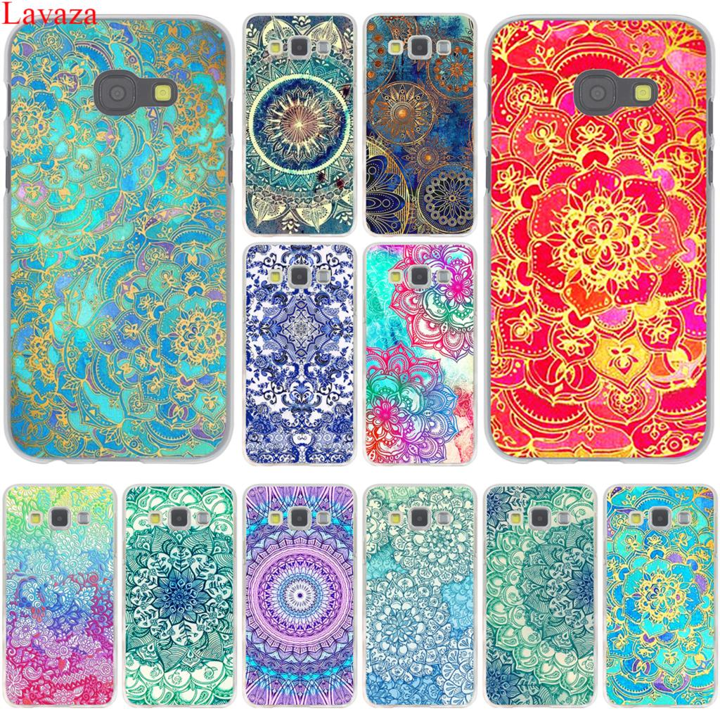 Lavaza Sapphire Jade Stained Glass Mandalas Case for Samsung Galaxy Note 10 9 8 A9 A8 A7 A6 Plus 2018 A3 A5 2015 2016 2017 A2 image