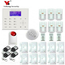 YobangSecurity Wireless Wifi GSM House Home Security Alarm With Wireless Flash Siren Smoke Fire Pet Friendly Immune Detector