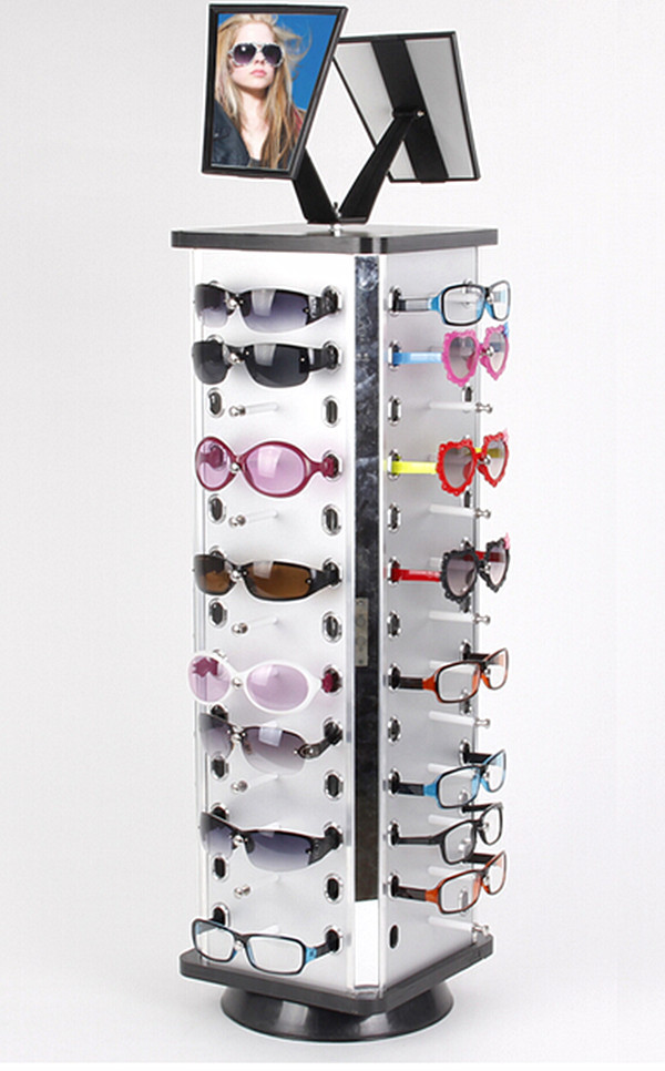 Aluminum Plastic Board Eyeglass Sunglasses Display Holder Rack Stand For 52pairs Each Distance 0.5cm Total Height 940mm 1pc/lot aluminum plastic board eyeglass sunglasses display holder rack stand for 52pairs each distance 0 5cm total height 940mm 1pc lot