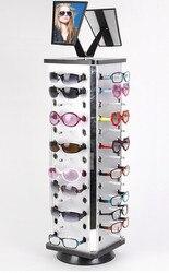 Tablero de plástico de aluminio gafas de sol soporte de exhibición estante torniquete cada distancia 0,5 0,6 cm con espejo 2 juegos