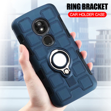 Cover For Motorola Moto E5 Plus Silicone Shockproof Phone Case Armor Back Ring Stand