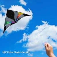 300*135 ซม.ขนาดใหญ่ Delta kite Single Line Kite Flyer สามเหลี่ยมประกอบ Kite เด็กผู้ใหญ่กลางแจ้ง fun Easy to Fly