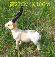 simulation cute goat 23x18cm toy model polyethylene&furs goat model home decoration props ,model gift d244