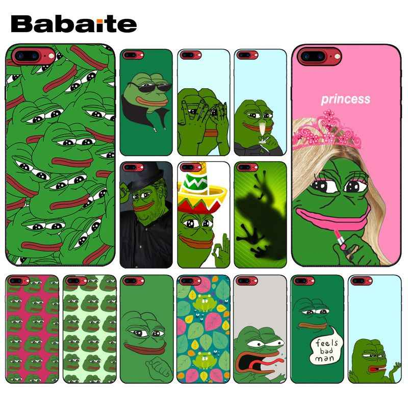 Yinuoda the Frog meme pepe Smart Cover Black Soft Phone Case for Apple iPhone 8 7 6 6S Plus X XS MAX 5 5S SE XR Mobile Cover