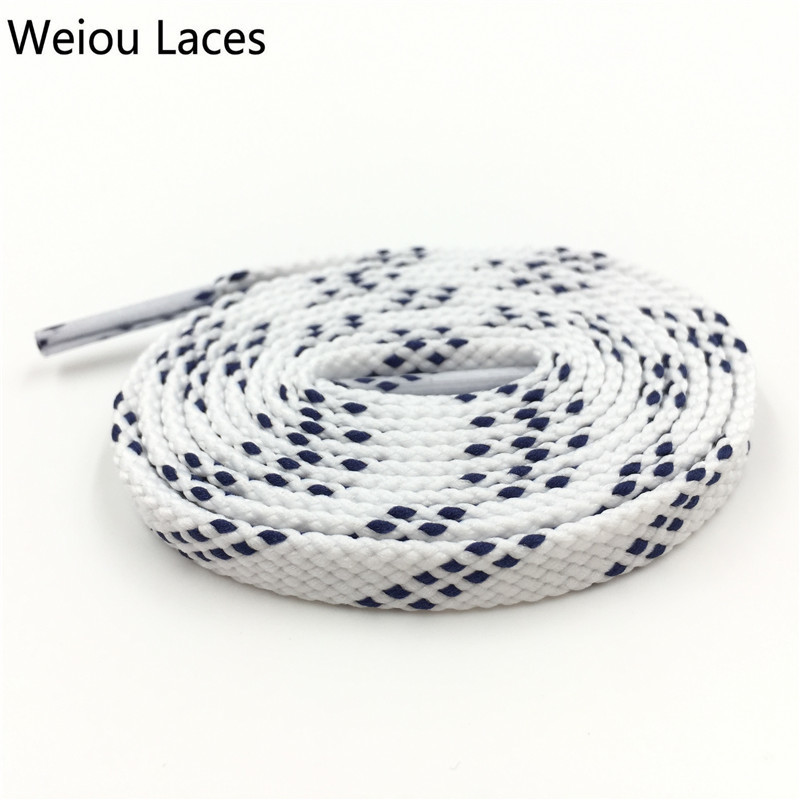 Weiou Double Layer 0.8cm Classic Kids Adult Black White Athletic Sport Flat Shoelaces For Sneakers Bootlaces Unisex Shoe Laces