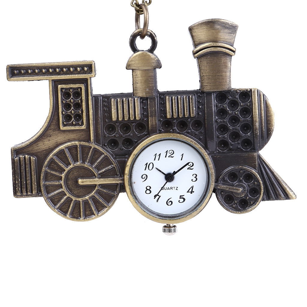 Train Personality Pocket Watch Personality Retro Pocket Watch Classic Car Styling Pendant Vintage Pocket Watch Montre Homme LD