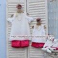 Семья установлены одежда Плюс Большой размер 4xl для Женщин мать и дочь рубашка и шорты Брюки детская clothing Росы плечо