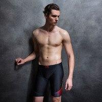 Kolano Długość Mężczyzn Kąpielówki Strój Kąpielowy Stroje Kąpielowe Mężczyzn Boy Pływać Szorty Stroje Kąpielowe Męskie Kąpielówki stroje Kąpielowe Szorty Dla Mężczyzn