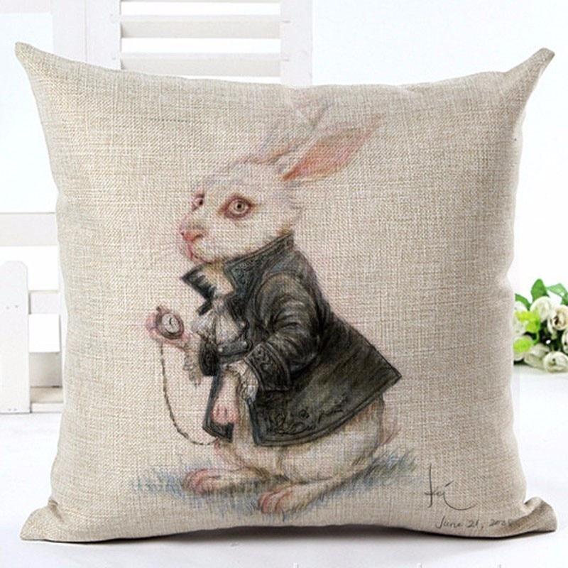 Fashion Vintage Europe Style Cartoon Rabbit spilvenu dekors cojines - Mājas tekstils