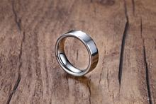 Кольцо мужское из вольфрама серебристого цвета 6 мм