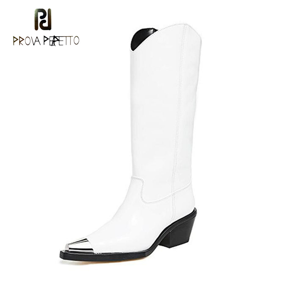 white Décoration Vente In Sexy Chaude Leather Bout D'hiver Perfetto Femmes Lady Prova Bottes Pointu Longue Chunky In Talon Black Meta Chaud Plush Haute In black Genou 8wPN0OZkXn