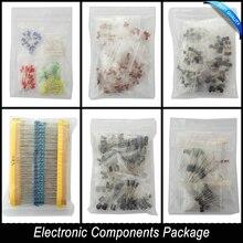 Elektronische Komponenten Paket + Variable Elektrolytkondensatoren + Keramikkondensatoren + Widerstand + LED Dioden Transistor