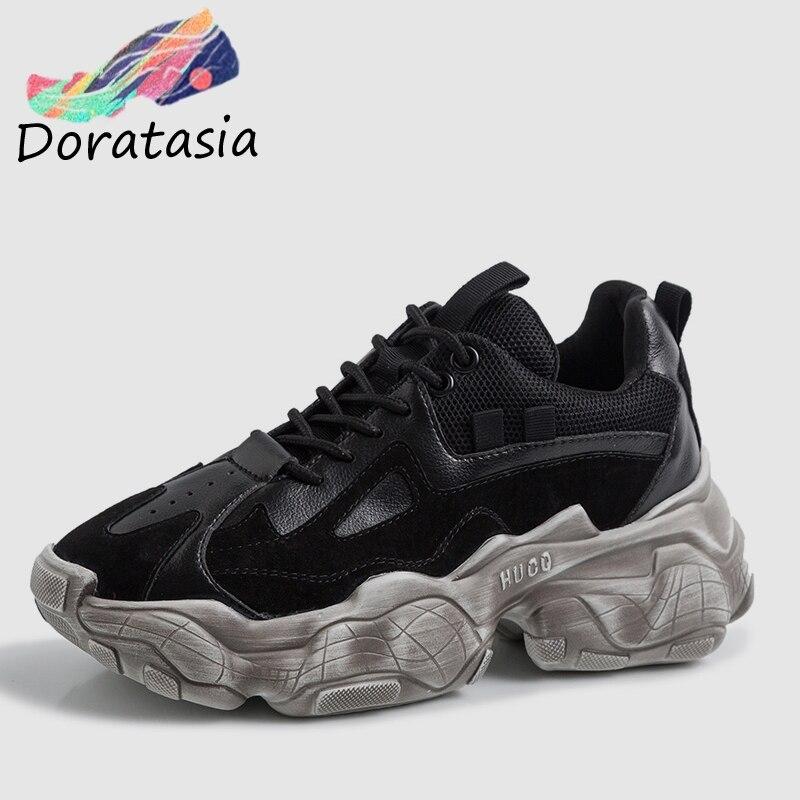 8e16d7273c3 Fille Taille Lady Vieux Baskets Papa 35 42 Véritable Nouveau Tout Pour  Doratasia Grande À Ins Compensées Chaussures Semelles En Femme ...