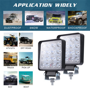 Image 5 - 2x LED Lampen Für Autos LED Arbeit Licht Schoten 4 Zoll 160W Platz Ort Strahl Offroad Fahr Licht Bar luces Führte Para Auto