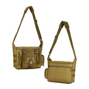 Image 4 - Mannen 1000D Nylon Messenger Schoudertas Militaire Student Tas Trekking Aktetas Laptop Pack