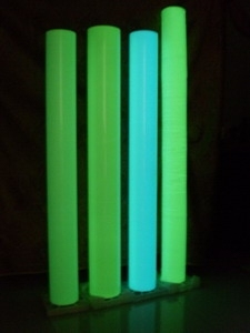 self luminous silk screen printing night glow PVC film