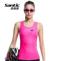 Women Cycling Jersey Red Sleeveless Recreational Sports Quick Dry MTB Road Bike Bicycle Running Underwear Gilet Santic L6*