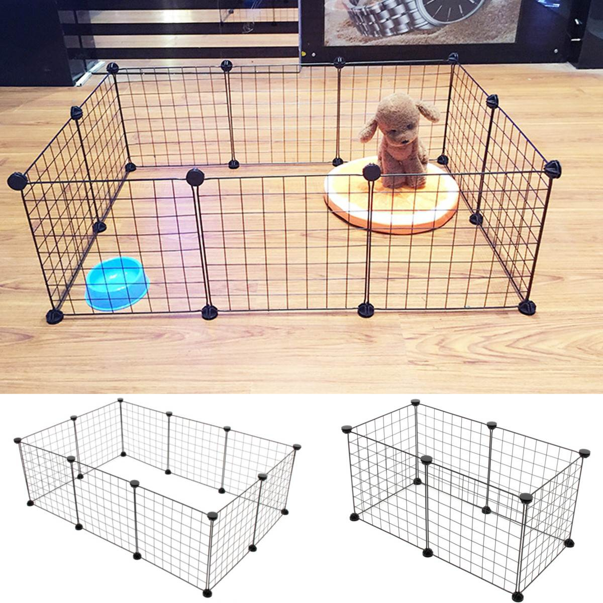 Foldable 6/10 Panels Pet Dogs Playpen Crate Fence Puppy