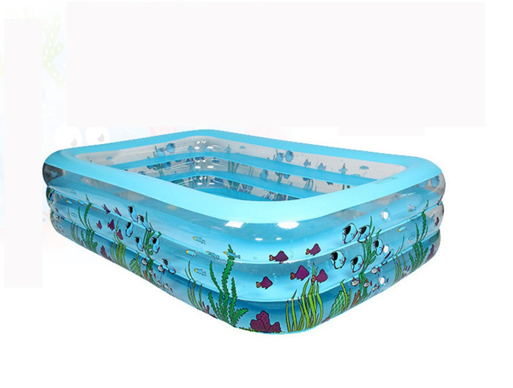 3layers rectangle Portable Inflatable kids Swimming Pool ...