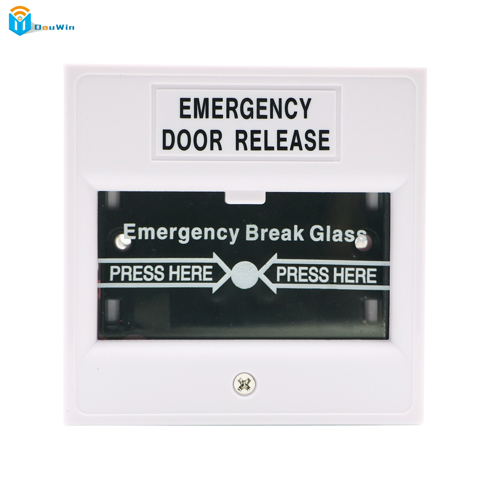High quality Reset Emergency Break Glass Fire Emergency Door Release Access Control Exit Button Access Control Douwin emergency door release glass break fire alarm button white ac 220v dc 24v