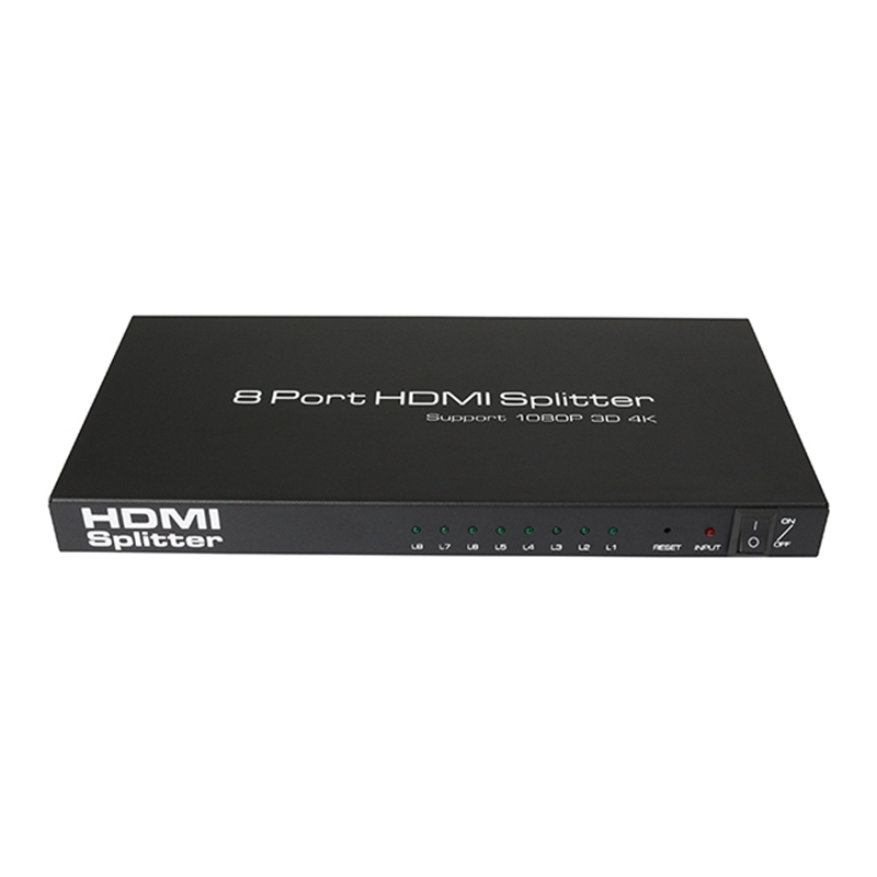 все цены на 2018 HDMI Splitter 1x8 4K Ultra HD 8-Port Amplified Signal Distributor Powered Splitter Support 3D 4Kx2K Resolution в интернете