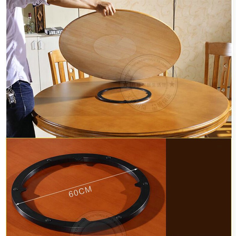 Solid Oak Wood Quiet Smooth Lazy Susan Rotating Tray Dining Table Swivel Turntable Plate