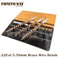 Armiyo. 22cal 5.56mm hunting rifle cano da arma ferramenta de limpeza escova de limpeza do fio de bronze parafuso tamanho da rosca m4 * 7mm