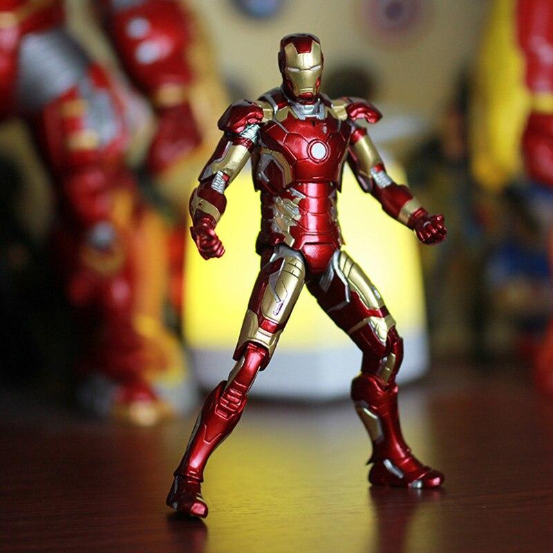 Marvel Iron Man 3 Action Figure Superhero Iron Man Tonny Mark 42 Mark 43 PVC Figure Toy 18cm figure marvel iron man mark 43 pvc action figure collectible model toy 7 18cm kt027