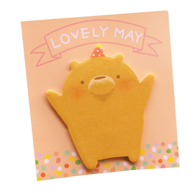 1pcs 60 Stickers Office & School Supplies Memo Pad Korea Creative Stationery Wholesale Cute Bear Shaped N Times Posted